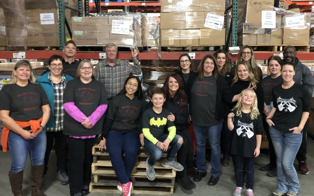 Volunteering at the Idaho Food Bank